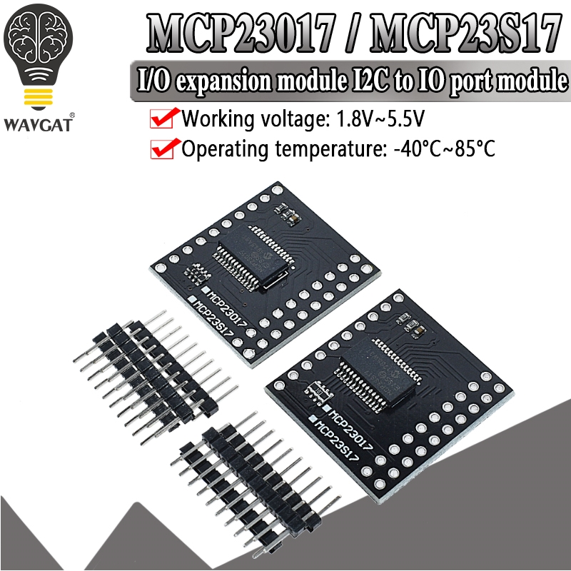 MCP23017 Serial Interface Modul IIC I2C SPI MCP23S17 Bidirektionale 16 Bit I/O Expander Pins 10Mhz Serielle interface Modul|Integrierte Schaltkreise|   -