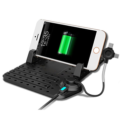 حامل هاتف قابل للضبط للسيارة Remax يتصاعد مع كابل مغناطيسي 3 في 1 لشحن هواتف آيفون USB من النوع c لهواتف سامسونج GPS
