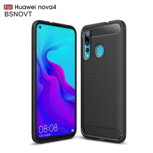 For Huawei Nova 4 Case Soft TPU Silicone Bumper Anti-knock Phone Cover Funda BSNOVT