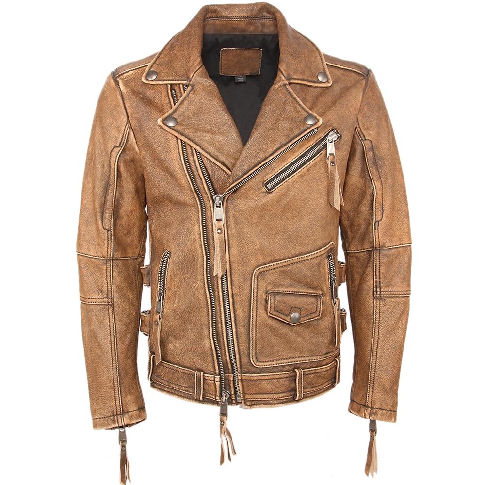 H94ce8f1917434898a14c570e034f5fc1D Vintage Motorcycle Jacket Slim Fit Thick Men Leather Jacket 100% Cowhide Moto Biker Jacket Man Leather Coat Winter Warm M455