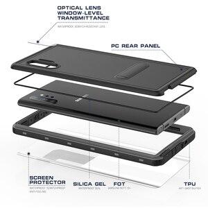 Image 3 - Unterwasser Echt Wasserdicht Fall Für Samsung Hinweis 10 Plus S10 S8 S9 Plus Tauchen Wasser Beweis Steht Telefon Fall Für galaxy Note 8 9