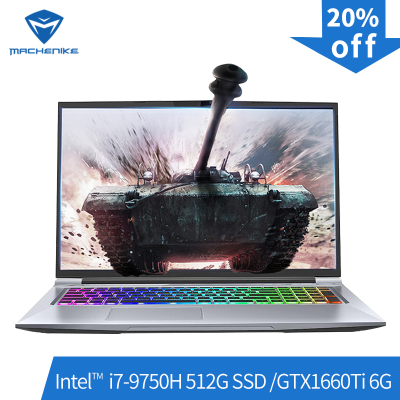 Machenike T90-PLus Gaming Laptops (Intel  I7-9750H+GTX1660Ti 6G/8GB RAM/512G SSD/17.3''144Hz ) игровой ноутбук Notebook