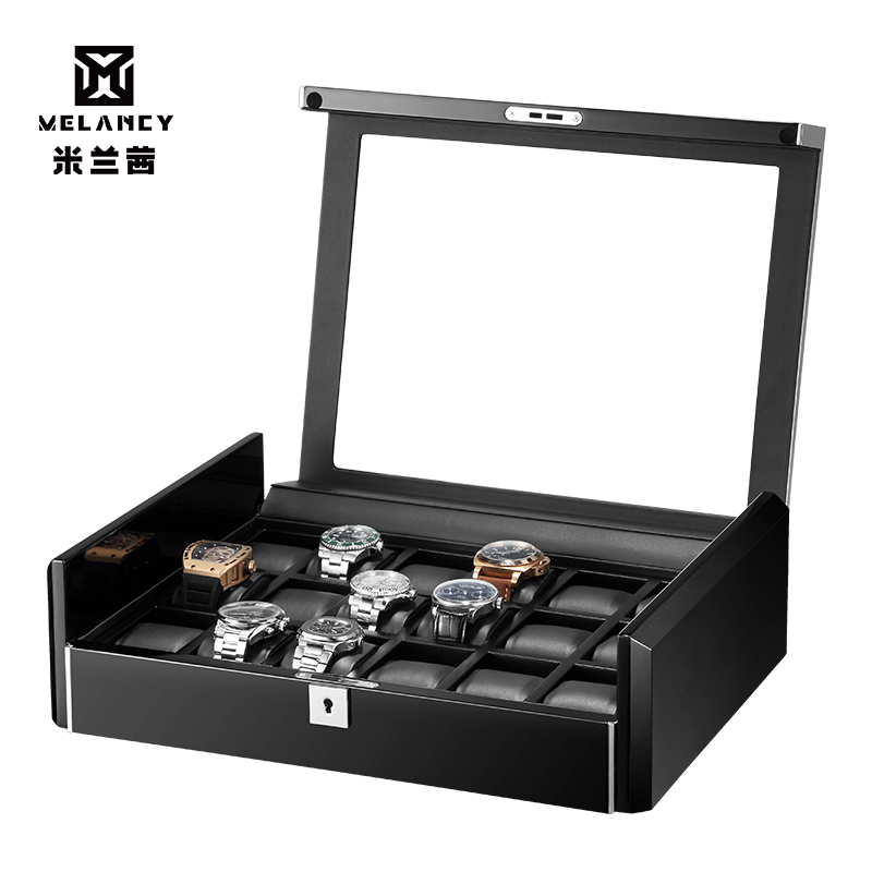 PU Leather Zippered Watches Box Travel Case Men Gift Watch Storage Organizer CollectionTop Grade Carbon Fibre PU Leather
