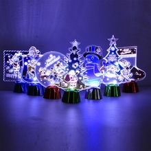 Night Light Copper Christmas Decorations for Home LED light Tree Indoor New Year Xmas Wedding Decoration