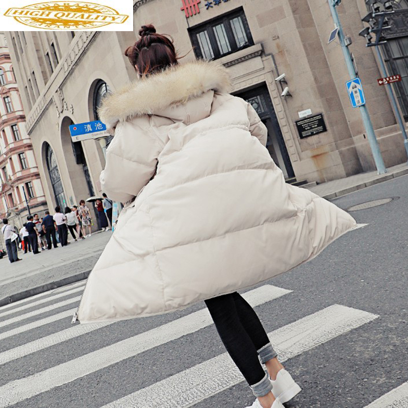 2019 New Duck Down Jacket Woman Hooded Winter Coat Women Korean Loose Thick Long Parka Coats Chamarras De Mujer KJ454