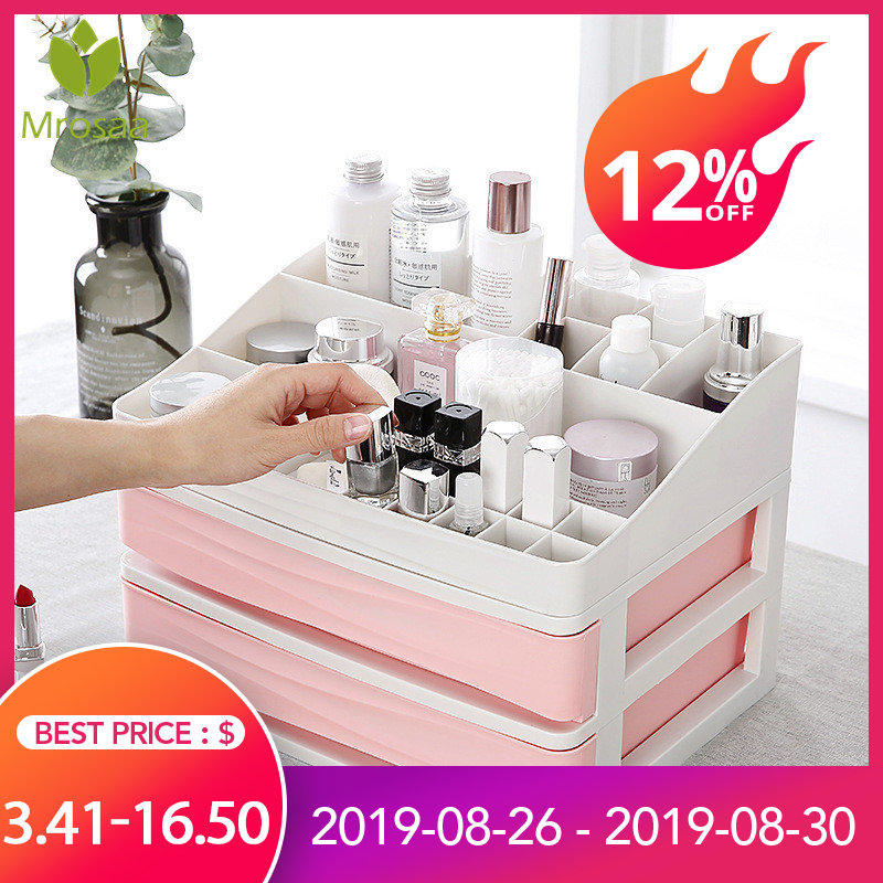 Container Casket-Holder Storage-Case Makeup-Organizer Drawer Nail Plastic Cosmetic Desktop