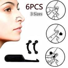 6Pcs 3D Nasal Shaping Accessary Beauty Nose Up Corrector Lifting Bridge No Pain Nose Shaping Clip Massager Women Beauty Tools