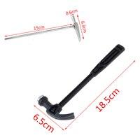 Metall Mini Klaue Griff Hammer Holzbearbeitung Nagel Puncher Hammer Kleine Eisen Hammer Uhr Reparatur Hand Werkzeug Notfall Sicherheit Flucht-in Hammer aus Werkzeug bei