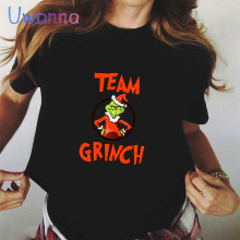 White Tops Grinch Tshirt Christmas-Clothes Graphic Letter Harajuku-Printed Cute Black