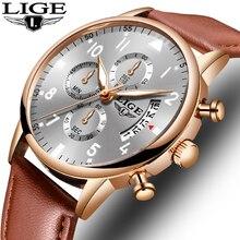 Super Beautiful Rose Gold Men Watches Top Brand Luxury Leather Waterproof Quartz WristWatch