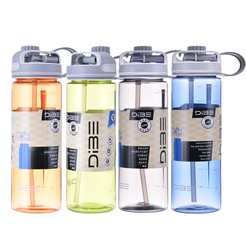 500ml 600ml 700ml Portable Leak-Proof plastic Hydro Flask Quality Tour Outdoor Bicycle Sports Bottle Personality Water Bottle