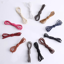 Boots Shoelaces Waxed Round Cotton 1pair Martin Waterproof Men Length-80/100/120/140cm