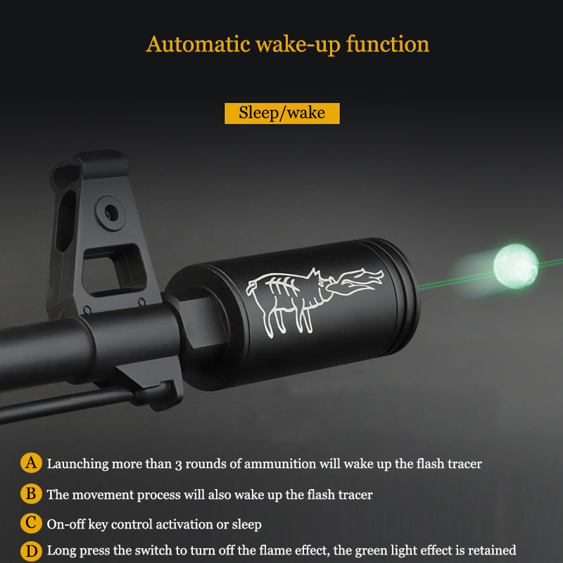 Paintball Airsoft Tracer Lighter S 14mm/10mm Spitfire effect with Fluorescence Tracer Unit for Shooting Rifle Pistol Auto Tracer-2