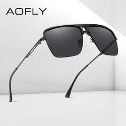 AOFLY Fashion Polarized Sunglasses Men Women Square Oversized Driving Mirror Sun Glasses For Male Goggle zonnebril heren UV400
