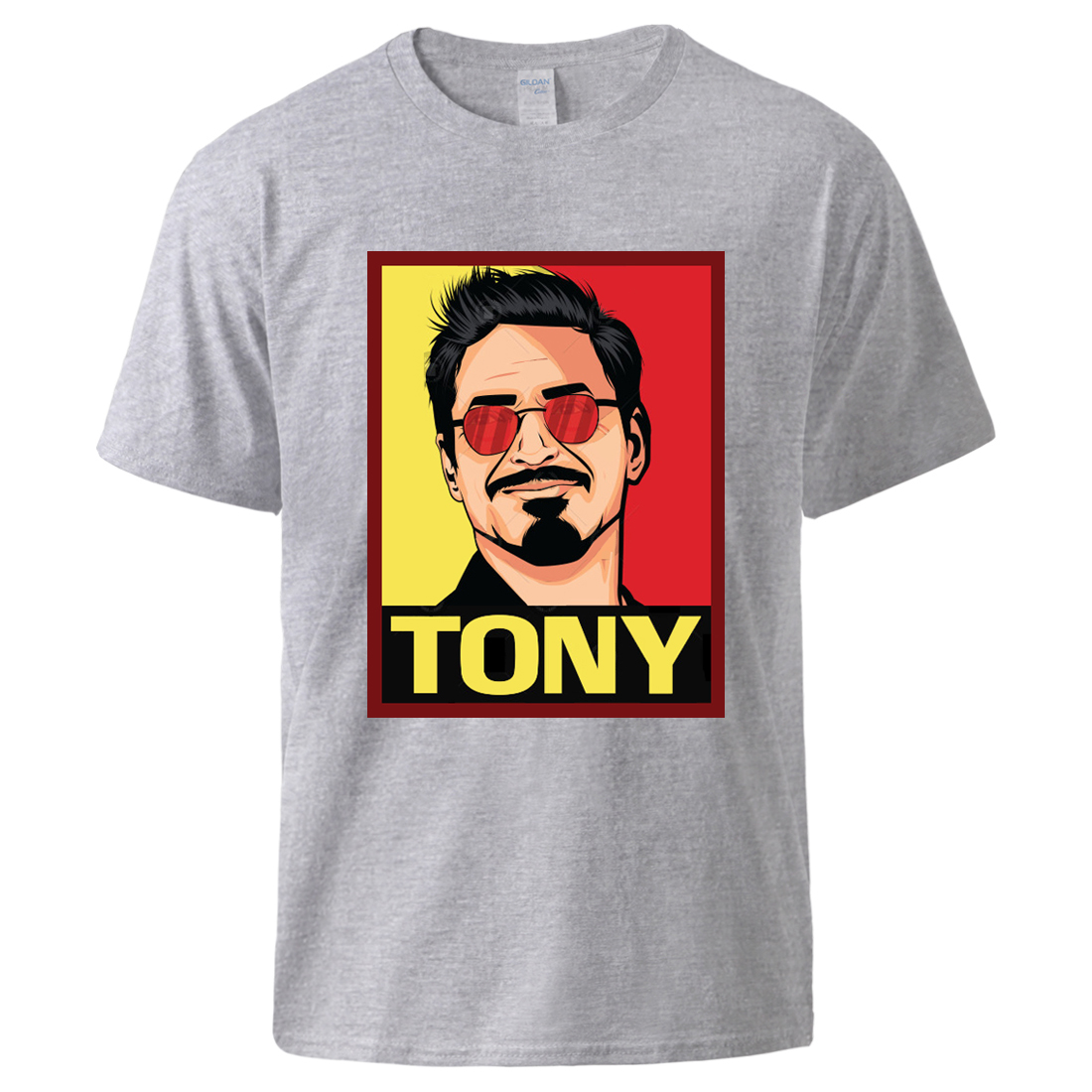 Marvel Superhero Tony Print Tshirts Top Man Summer Short Sleeve Cotton Sweatshirts 2020 Male Hot Sell Pullover T Shirts Plus
