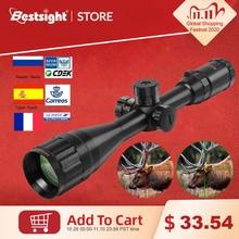 BAIGISH 4 16x44 ST טקטי אופטי Sight ירוק אדום מואר Riflescope ציד היקף רובה צלף Airsoft רובי אוויר