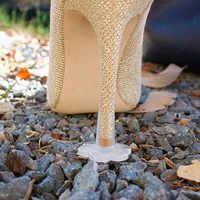 5 Pairs High Heel Protectors Latin Dance Stiletto Covers Heel Antislip High Heeler PVC Caps Trasparent Wear-resistant Soft Base