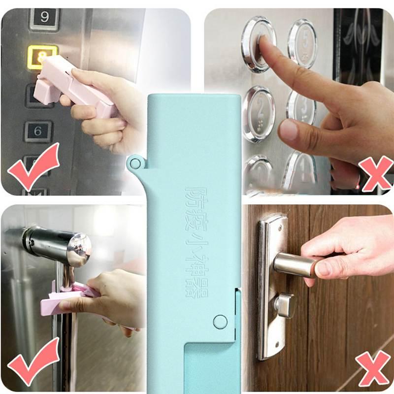 Kid Epidemic Prevention Open Door Disinfectant Tool Press The Elevator Button Artifact Anti-virus Avoid Contacting Tool 1 Set