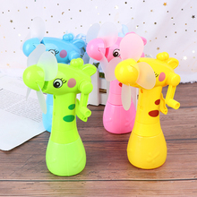 Mini Fan Portable Hand Held Desk Humidification Cartoon Handheld Ventilador Water Mist for Children