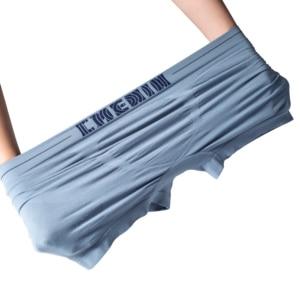 Image 4 - 4Pcs/lot Mens Underwear Men Boxer Panties Polyester Mens Underwear Boxershorts Men Boxers Solid Shorts Brand Underpants CM001