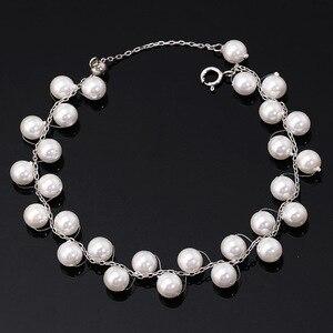 Женский браслет в стиле бохо из чистого серебра 925 пробы с жемчугом, простые бусины в Корейском стиле для девушек-подростков, студенток, ювел...