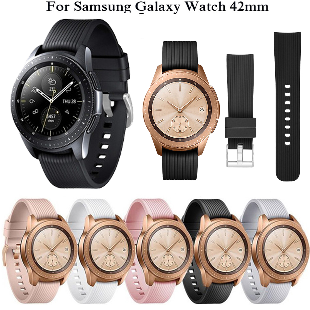 Sport Strap For Samsung Galaxy Watch Band 42mm/Gear S2 /SM-R810 Sports Silicone Bracelet 20mm Wristband Replacement Correa Belt