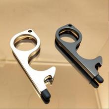 Портативная дверная ручка, Бесконтактный безопасный Открыватель двери, безопасная защита, набор латунных ключей, закрыватель двери без сен...