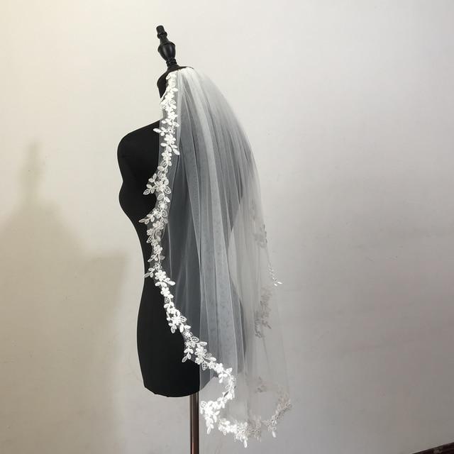 Фото реальные фотографии свадебные вуали одного слоя кружева завесу цена