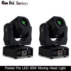 Мини-прожектор 60 Вт Светодиодный светильник с подвижной головкой с пластиной гобо и цветной пластиной, высокая яркость 60 Вт Мини светодиодн...