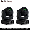Mini Spot 60W LED cabeza móvil con placa Gobos y placa de Color, alto brillo 60W Mini Led cabeza móvil DMX512