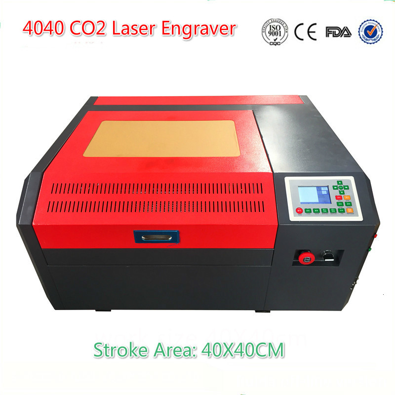 Free Shipping 4040 CO2 Laser Engraving Machine Ruida Off-line Control Panel Diy Mini 50w Laser Cutting Machine Coreldraw Support