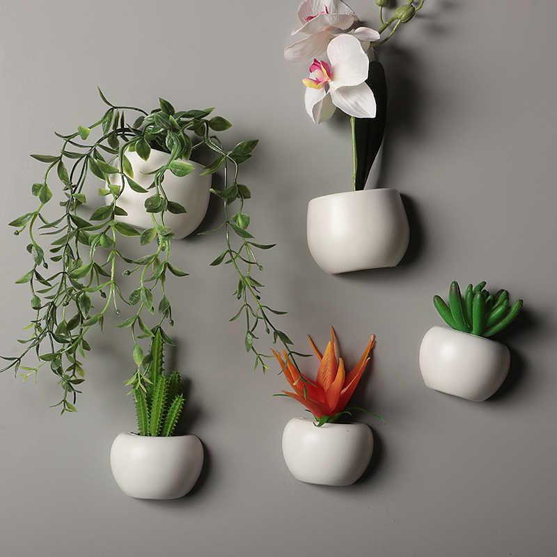 Artificial Plant Fridge Magnet Set of 12 Mini Fake Plants for home decor Plant Magnet Artificial Succulents by Smart Mini Pots Fridge magnets
