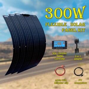 XINPUGUANG 18V 100 W 200 WATT 300W 400W Flexible Solar Panel kit e for 12V 24V battery car RV home outdoor Power charging(China)