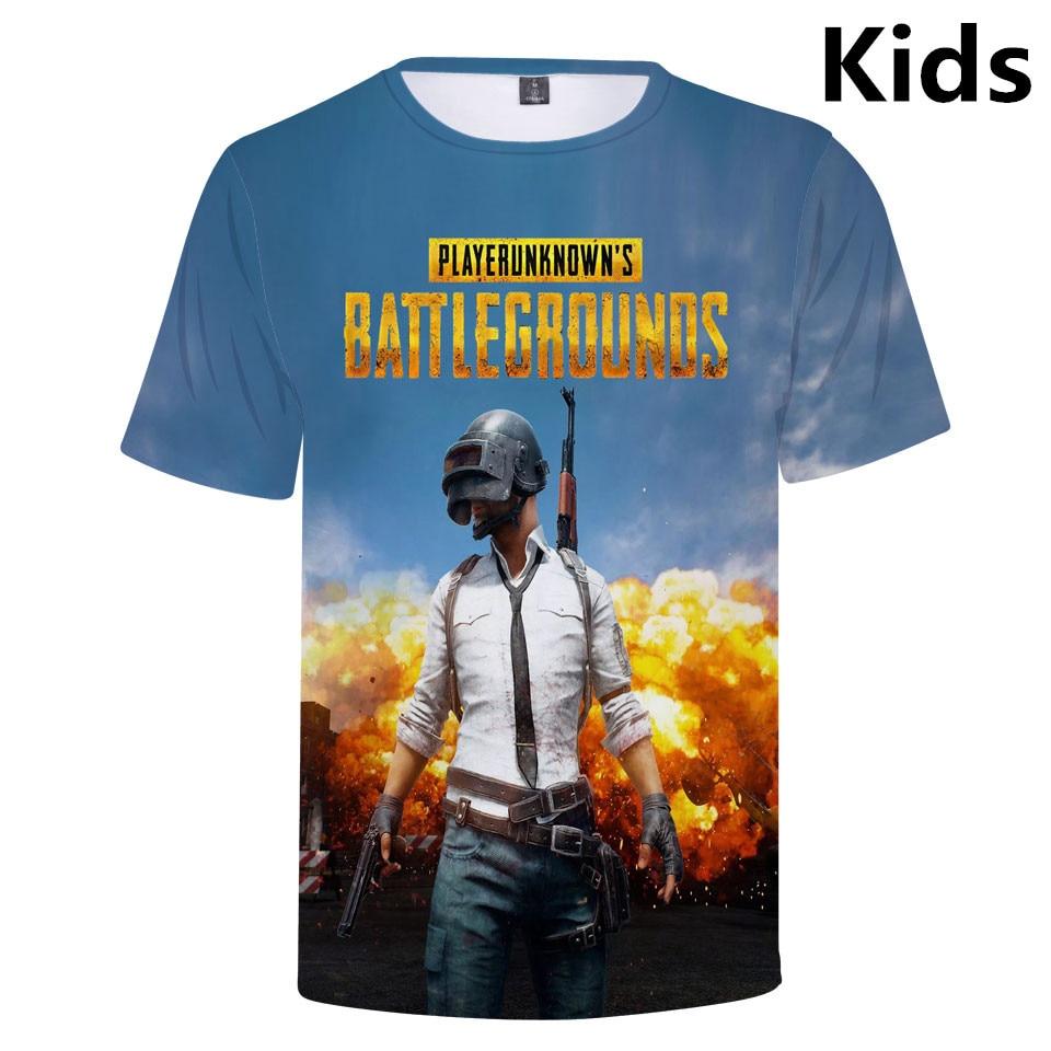 3 To 14 Years Kids T Shirt Playerunknown's Battlegrounds PUBG Tshirt T-shirt Boys Girls Harajuku T Shirts Tee Children Clothes