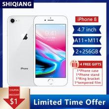 Original desbloqueado Apple iPhone 8 iphone8 64GB/256GB Hexa-core IOS 3D Touch ID 12.0MP Cámara 4.7in huella dactilar teléfono usado 1821mAh