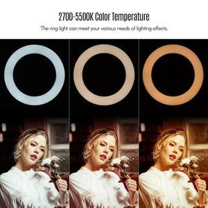 Image 4 - Lampada di riempimento ad anello a LED da 8 pollici lampada da 72 pezzi integrata perline LED 10W dimmerabile 2700 5500K temperatura di colore per iPhone Samsung Huawei