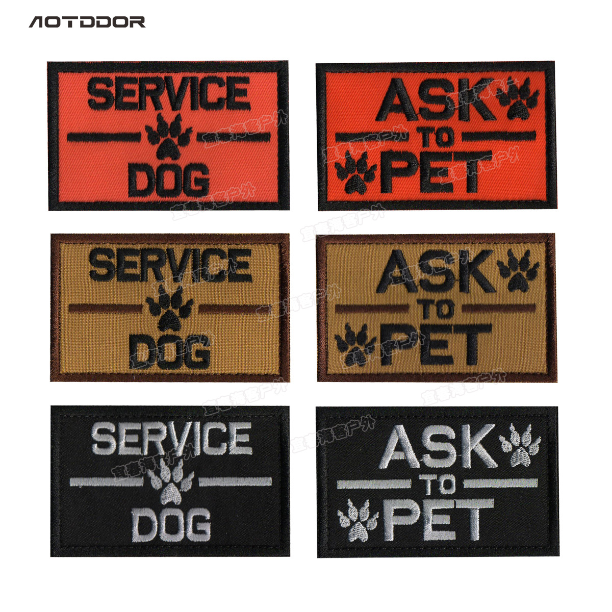 Cross Border Hot Selling Pet Backpack Chapter Sevice Dog Services Dog K9 Patch Dog Chapter Embroidered Velcro