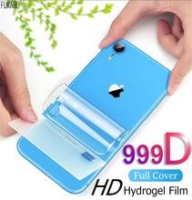 999D Protecteur D'écran Arrière Hydrogel Pour Apple iPhone 11 12 Pro Max Mini XS X XR 7 8 Plus Protection Pour iPhone SE 2020 Pas En Verre