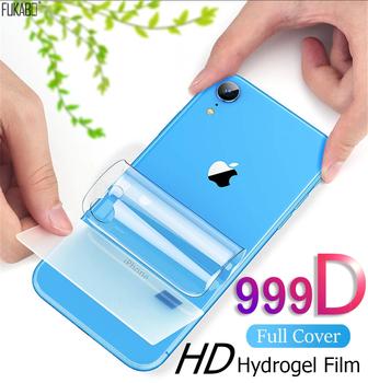 Ochraniacz ekranu tylnego 999D hydrożel dla Apple iPhone 11 12 Pro Max Mini XS X XR 7 8 Plus ochrona dla iPhone SE 2020 nie szkło hartowane hydrożelowa tanie i dobre opinie FUKABO Jasne CN (pochodzenie) Powrót film Iphone 6 Iphone 6 plus IPhone 6 s Iphone 6 s plus IPHONE 7 IPHONE 7 PLUS IPHONE 8 PLUS
