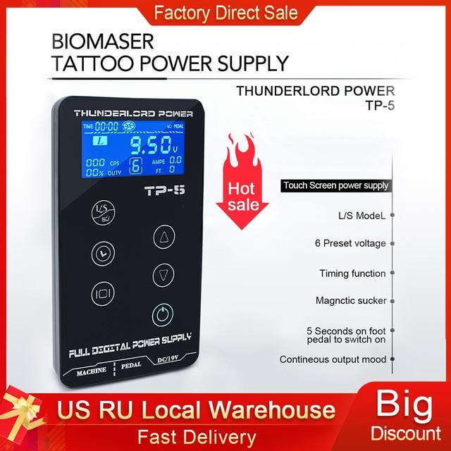 Fonte de alimentação da tatuagem hp 2 atualizar tela de toque TP 5 digital inteligente lcd maquiagem tatuagem máquina suprimentos conjunto