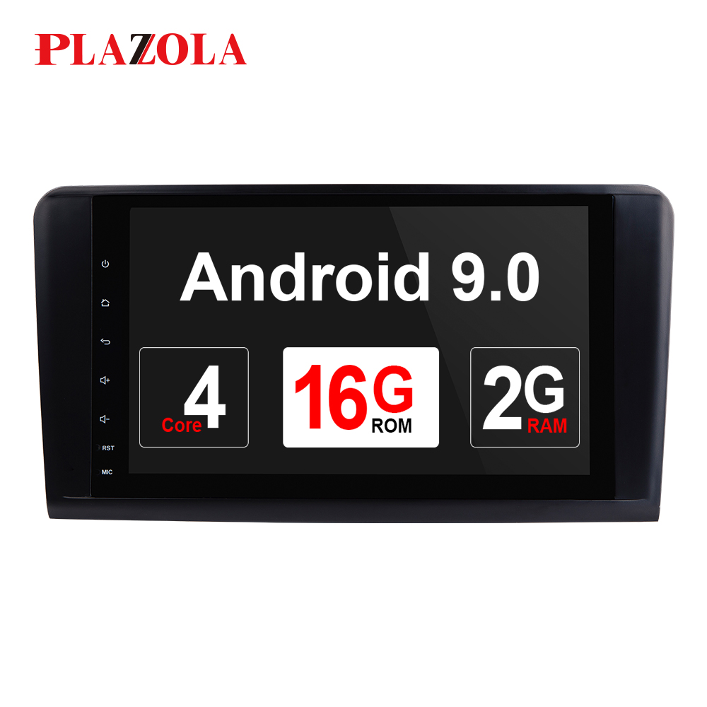 AutoRadio 2 din Android 9.0 Car Multimedia Player for Mercedes Benz ML W164 ML300 GL X164 GL320 350 420 450 500 R W25 GPS Stereo image