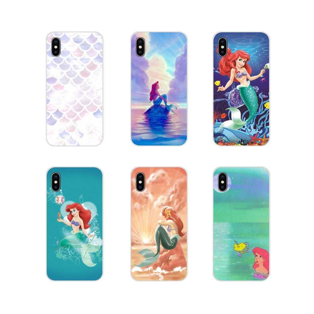 Carcasa transparente suave, sirena de dibujos animados para LG G3 G4 Mini G5 G6 G7 Q6 Q7 Q8 Q9 V10 V20 V30 X Power 2 3 K10 K4 K8 2017