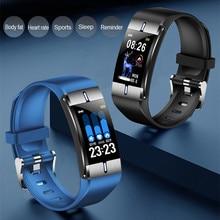 Reloj inteligente ONEVAN Monitor de presión arterial con ritmo cardíaco de grasa corporal pronóstico del tiempo pulsera deportiva de Fitness para Android iOS