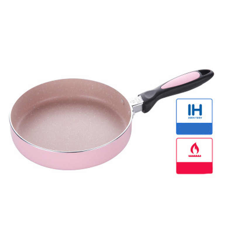 Poêle haute qualité 20cm poêle antiadhésive en cuivre avec revêtement en céramique et cuisson par Induction, four et lave-vaisselle