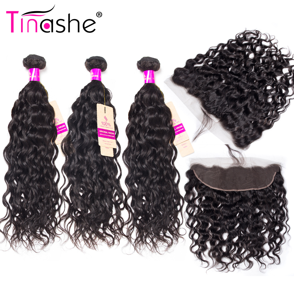 Tinashe Hair Brazilian Water Wave Bundles With Frontal Remy Human Hair Bundles With Closure Brazilian Hair Frontal With Bundles