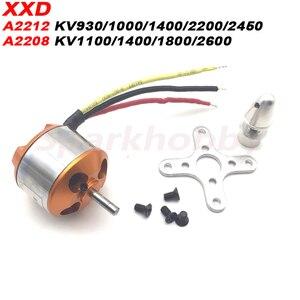 XXD A2212 A2208 Brushless Motor 930KV 1000KV 1100KV 1400KV 1800KV 2200KV 2450KV 2600KV RC Aircraft Multicopter Brushless Motor(China)