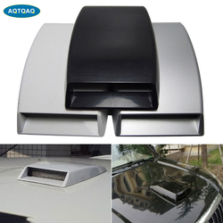 1Pcs Universal Air Flow Intake Hood Scoop Bonnet Vent Aufkleber Abdeckung Haube Auto Dekorative