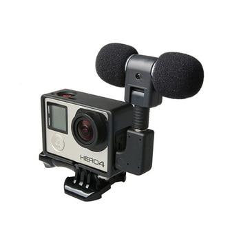 Mini micrófono estéreo Profesional + carcasa de marco estándar para Gopro Hero...