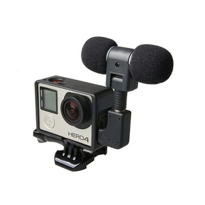 Image 1 - Profesional Mini Stereo Microphone + Standard Frame Case for Gopro Hero 4 3+ 3 USB to 3.5mm Mic Adapter Cable Cord Accessories