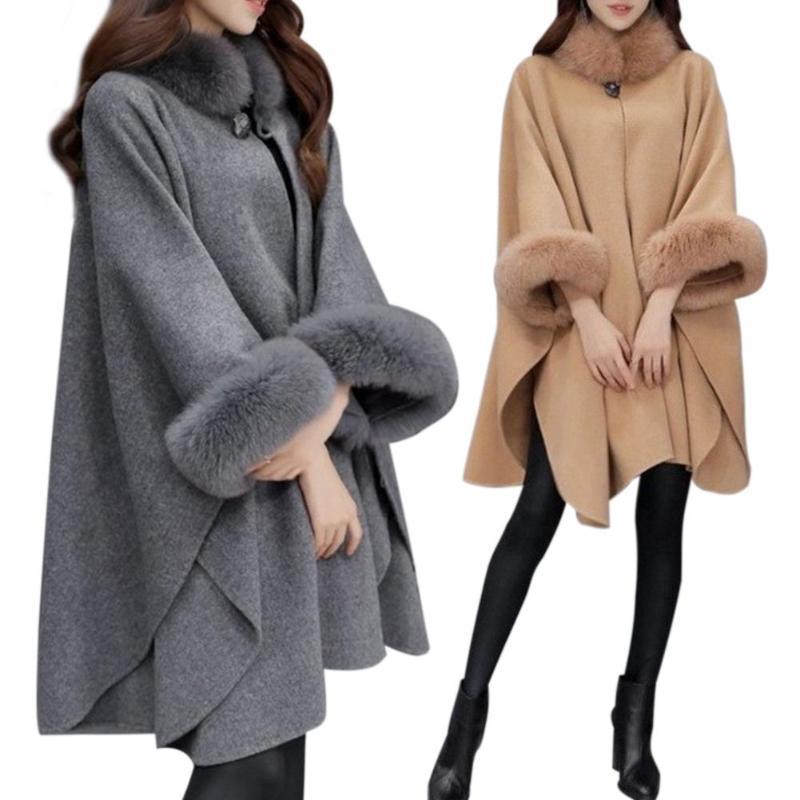 JURTEE Fashion Womens Coats Ladies Autumn Winter Hooded Trench Coat Open Front Cardigan Jacket Coat Cape Cloak Poncho Plus